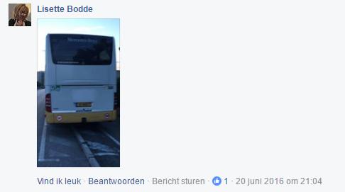 Een foto van de gestolen Oad bus