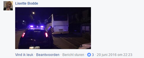 facebook post Oad politie